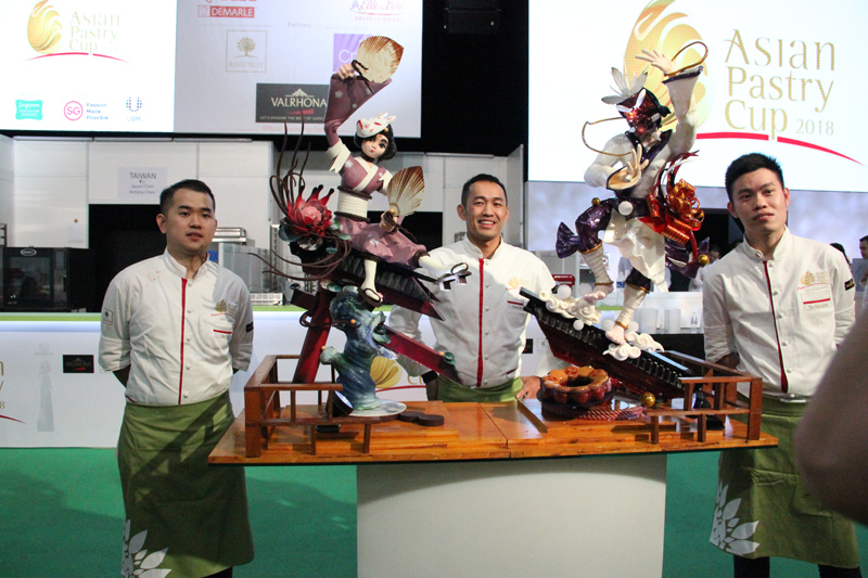 Going for gold: Team Malaysia at the Asian Pastry Cup.